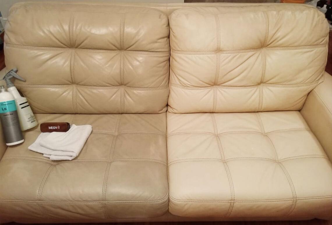 Чистка кожаного дивана | stirkakovra.ru